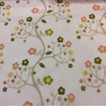Органза для штор с цветочками Arbolito 1. Испания, Европа, тюль. На прозрачном фоне мелкие цветочки