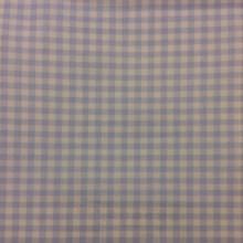 Портьерная ткань из хлопка Cindy 04. Испания, Европа, портьерная. Голубые с белым мелкие квадратики