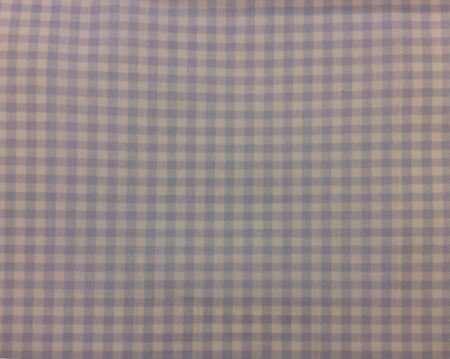 Портьерная ткань из хлопка Cindy 04. Испания, Европа, портьерная. Голубые с белым мелкие квадратики купить