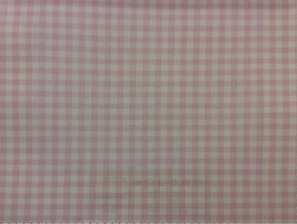 Портьерная ткань из хлопка Cindy 14. Розовые с белым мелкие квадратики. Европа, Испания, тонкая портьерная ткань заказать быстро с доставкой