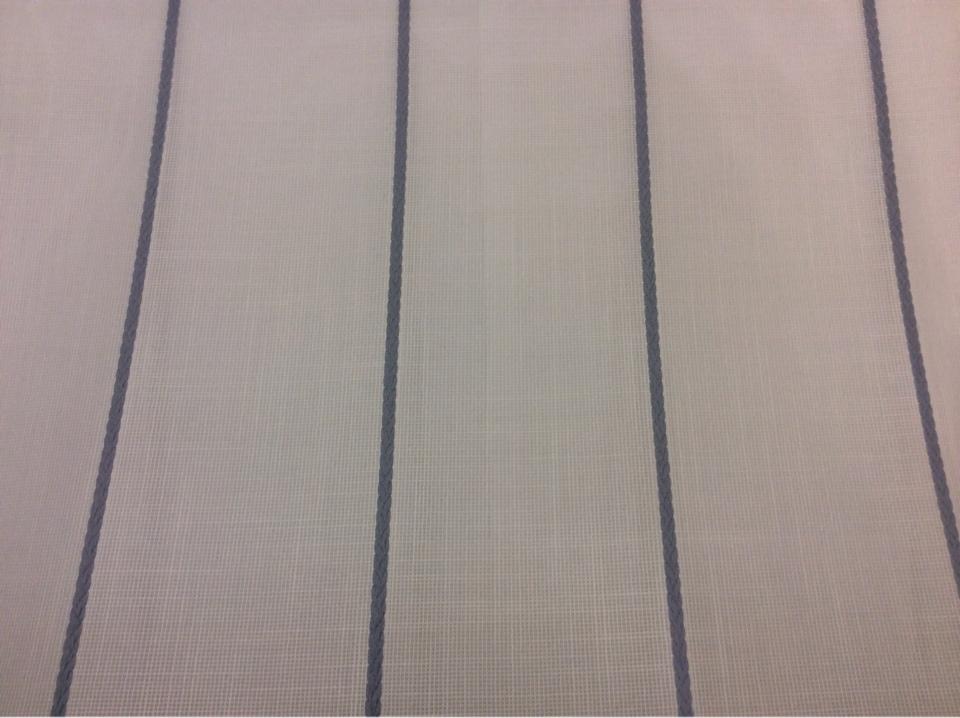 Испанская тюлевая ткань с добавлением хлопка Cindy 07. Европа, Испания, тонкий тюль. На белой сетке голубые полосы купить
