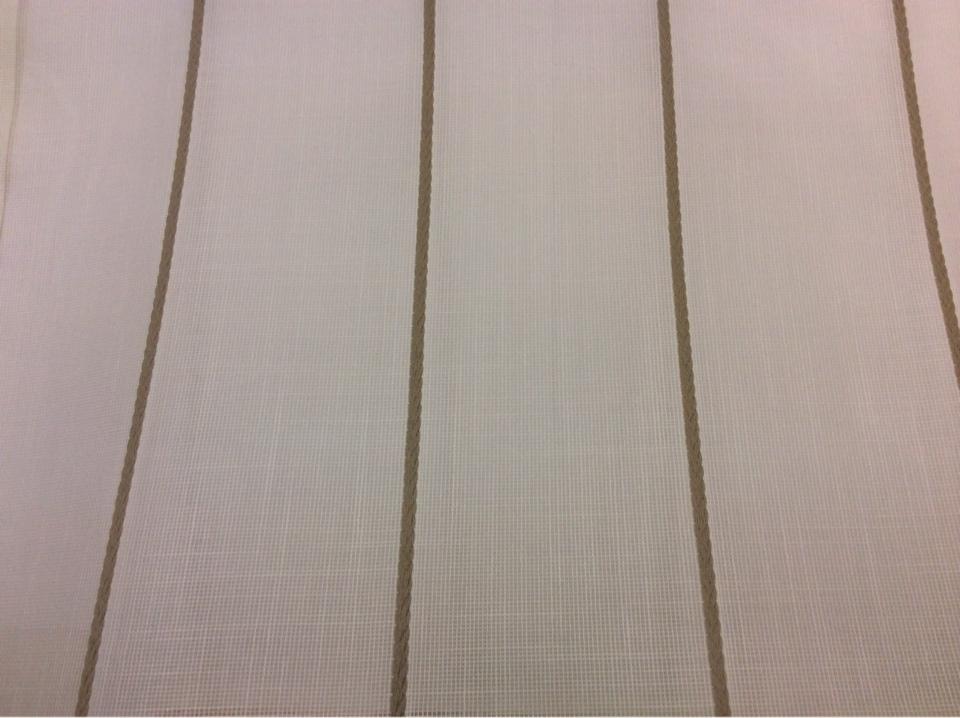 Тюлевая ткань с добавлением хлопка, на белой сетке коричневые вертикальные полосыCindy 25. Испания, Европа, тонкий тюль для штор. заказать онлайн с доставкой на дом