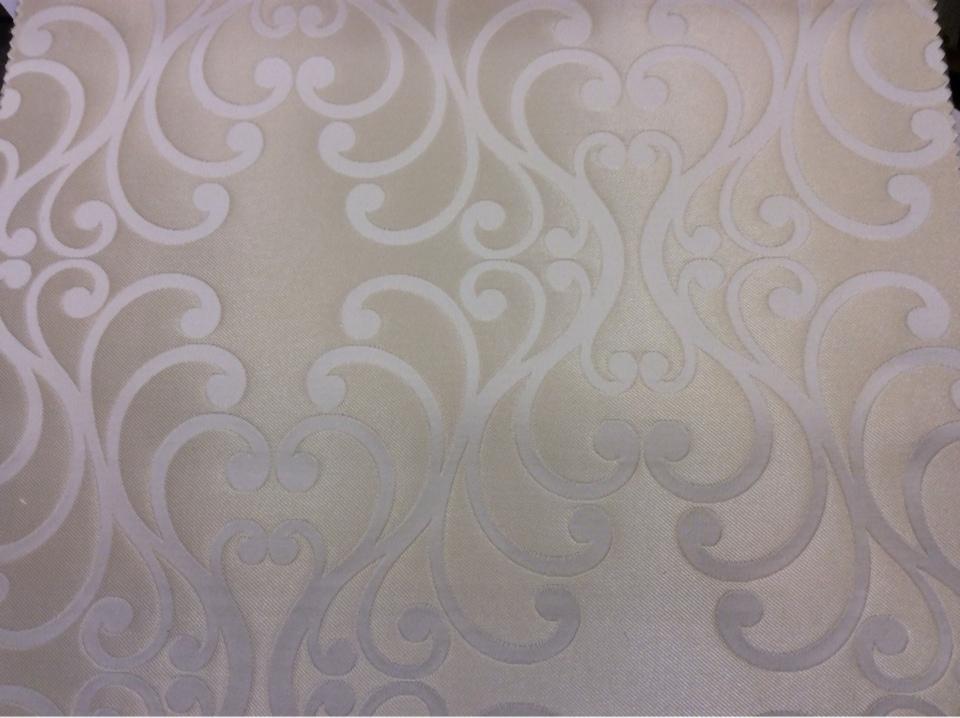 Испанская ткань в стиле барокко Elizabeth col. 10. Европа, Испания, портьерная. Ванильный фон, ванильный принт купить