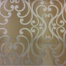 Купить элитную ткань в стиле барокко в Москве Elizabeth col. 14. Испания, Европа, портьерная. Золотистый фон, ванильный принт