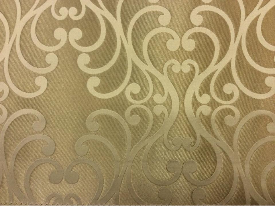 Купить красивую ткань в Москве Elizabeth col. 18. Испания, Европа, портьерная ткань для штор. Бронзовый фон, серый принт в Москве