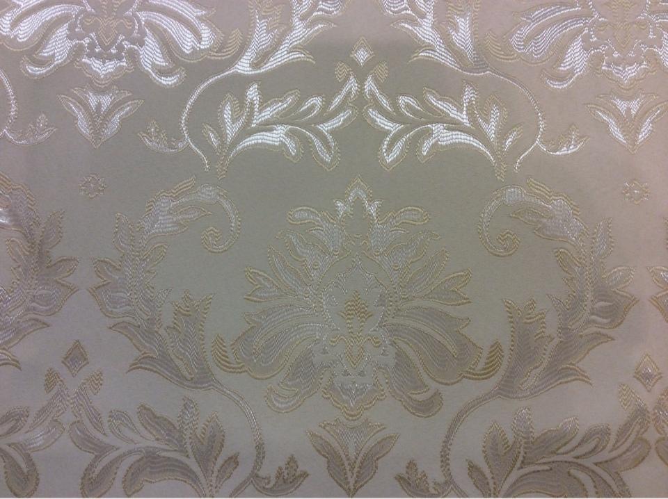 Ткань из французского каталога ткани 2374/11. Европа, Франция, портьерная. Ванильный фон, серебристый орнамент купить