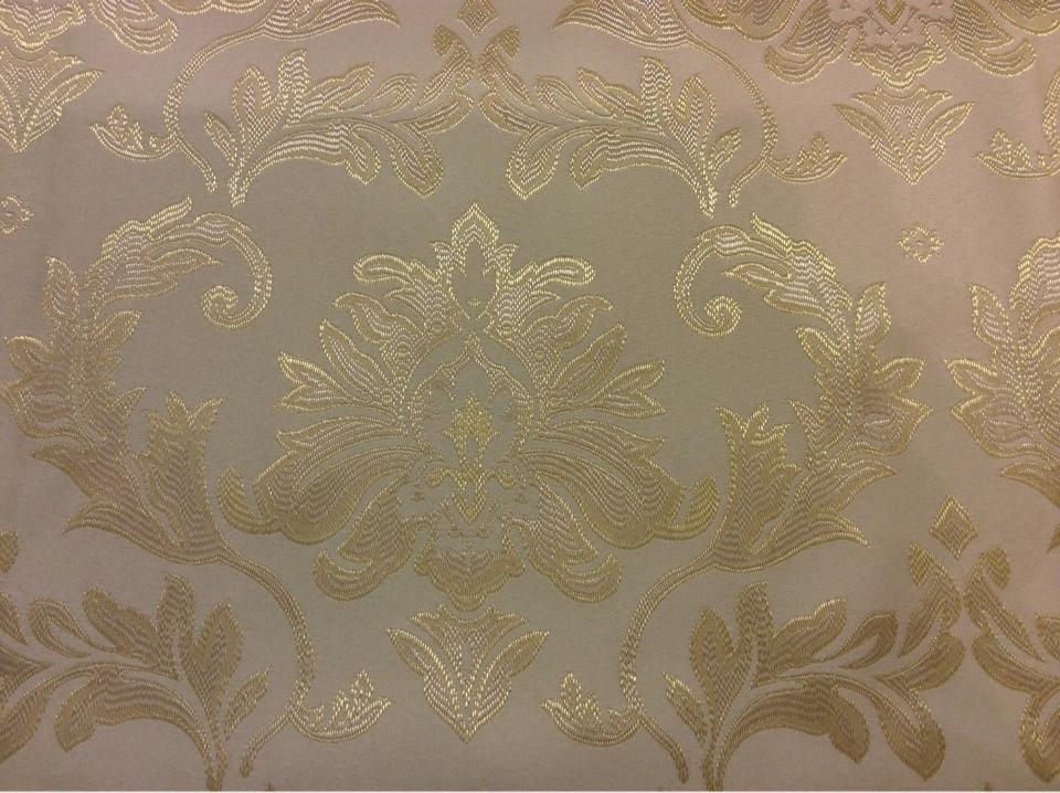 Купить ткань из каталога ткани барокко 2374/12. Франция, Европа, портьерная. Ванильный фон, золотистый орнамент купить