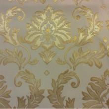 Купить ткань в Москве, стиль барокко 2374/15. Франция, Европа, портьерная. Ванильный фон, золотой орнамент