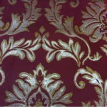 Заказать ткань в нашем магазине штор 2374/30. Франция, Европа, портьерная. Красный фон, золотисто-серебристый орнамент
