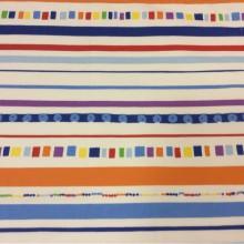 Ткань для штор в стиле китч Pets Raya. Airjet. Col 3. Испания, Европа, портьерная. Полоска, геометрические фигурки
