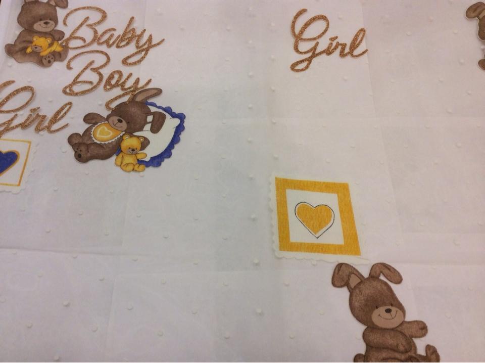 Детская ткань для штор с мишками 90050. Devore. Col 1. Испания, Европа, тюль. Изображение мишек с сердечками купить в интернете