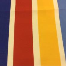 Хлопковая ткань с ярким принтом Vespa Raya. Airjet. Col 01. Испания, Европа, портьерная ткань для ламбрекена. Цветные полосы микс