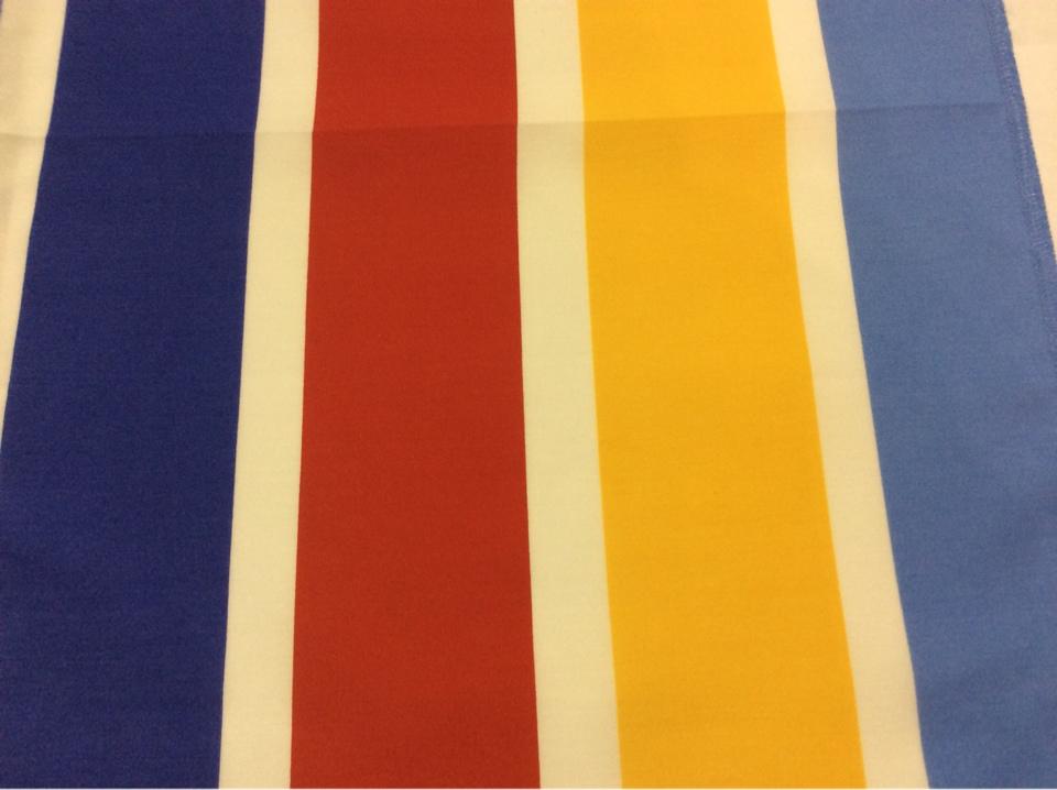 Хлопковая ткань с ярким принтом Vespa Raya. Airjet. Col 01. Испания, Европа, портьерная ткань для ламбрекена. Цветные полосы микс с доставкой