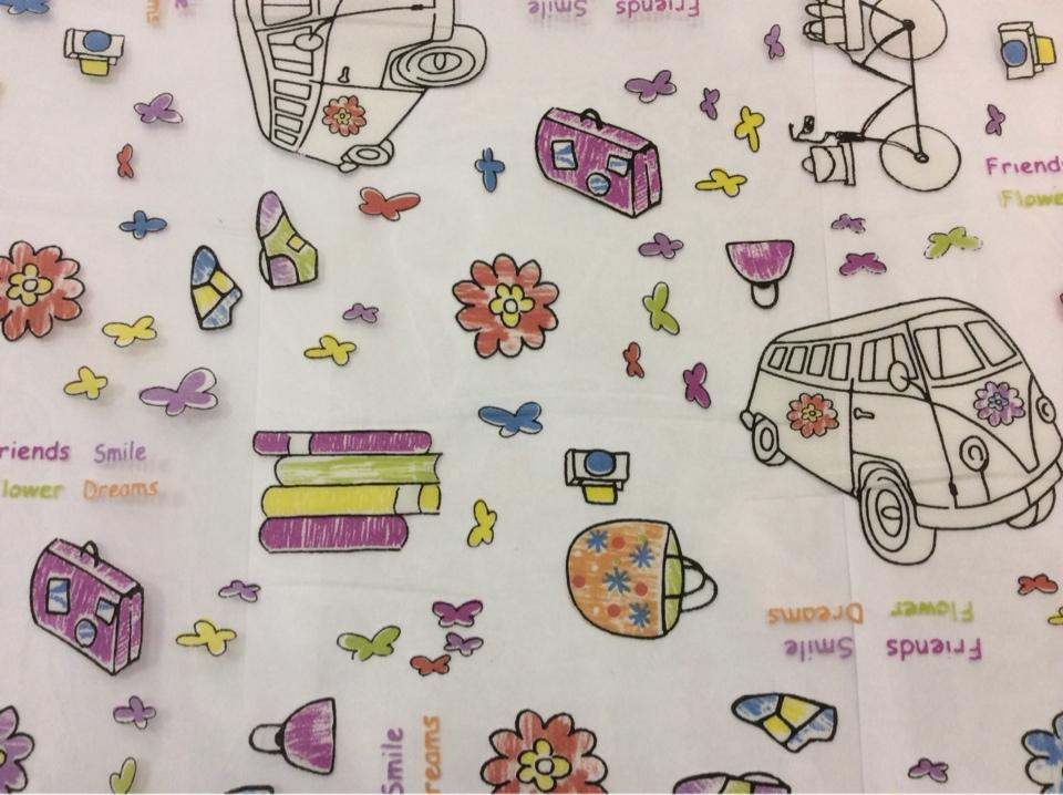 Органза с вискозной нитью, ткань для детской комнаты Kids Devore Unico 09. Европа, Испания, тонкий тюль. На прозрачном фоне мелкие цветные игрушки купить