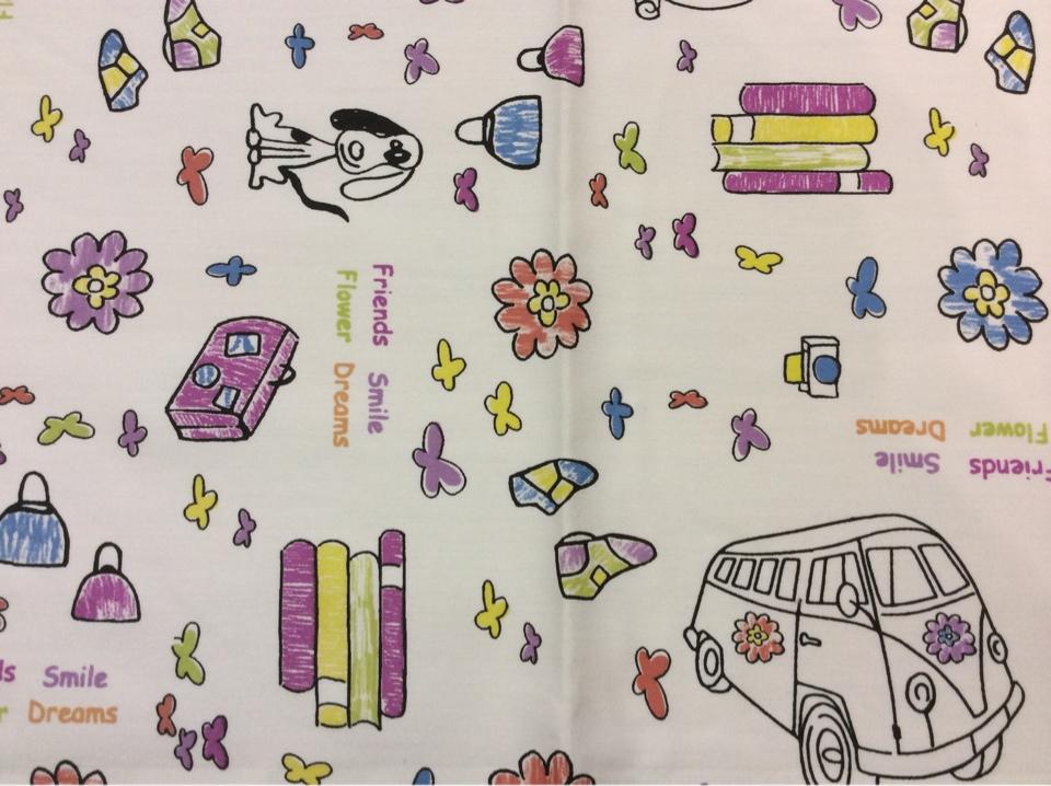 Детская ткань с игрушками Kids B Unico 09. Европа, Испания, портьерная ткань для штор.На белом фоне мелкие цветные игрушки купить в Москве