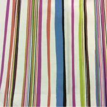 Хлопковая ткань с ярким принтом Kids Stripe Unico 09. Испания, Европа, детская портьерная ткань для штор. Вертикальные гибкие цветные полоски