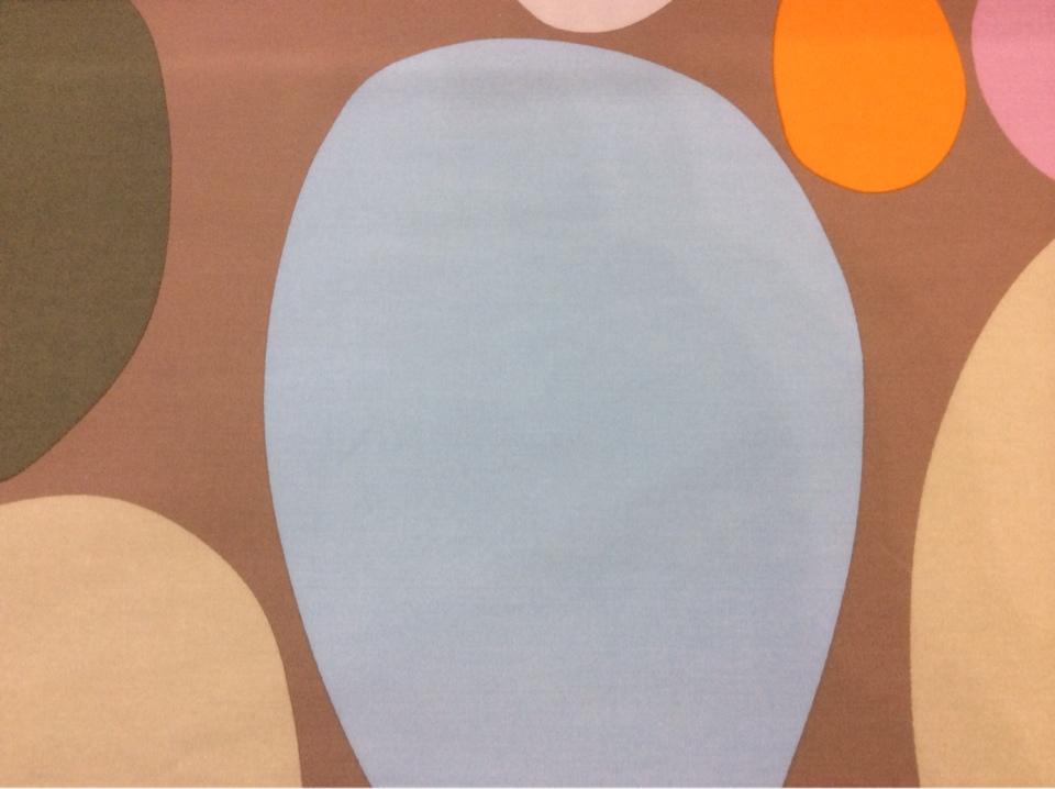 Испанская ткань с хлопковой нитью и ярким принтом Losco duvet, col 32. Европа, Испания, портьерная. Цветные большие и маленькие овалы купить в каталоге