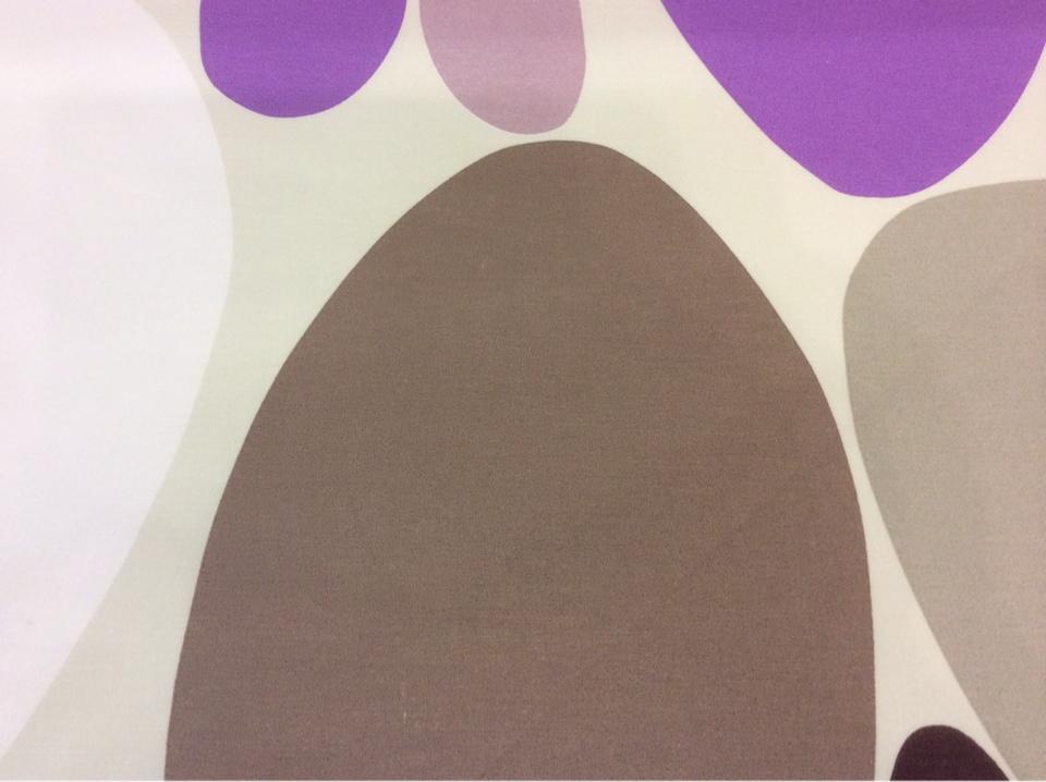 Ткань с хлопковой нитью и ярким принтом Losco duvet, col 21. Испания, Европа, портьерная. Цветные маленькие и большие овалы каталог тканей