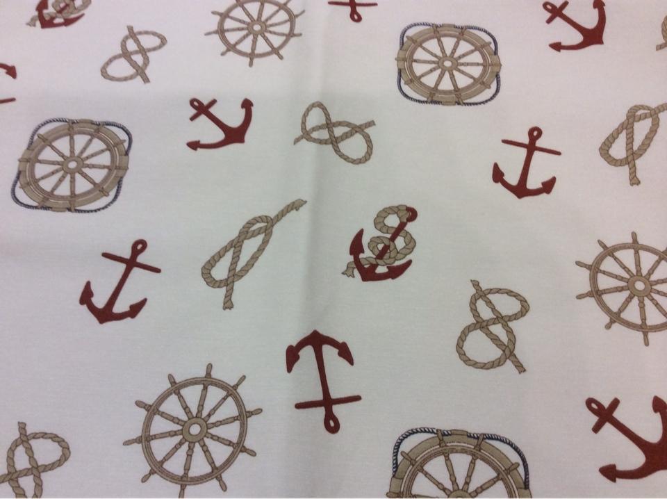 Ткань для штор с морской тематикой Nudos col 15. Европа, Испания, портьерная. Морская тематика купить