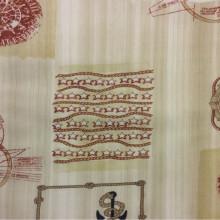 Тефлоновая ткань с хлопковой нитью морской тематики Verne, col 15. Испания, Европа, портьерная ткань для штор.