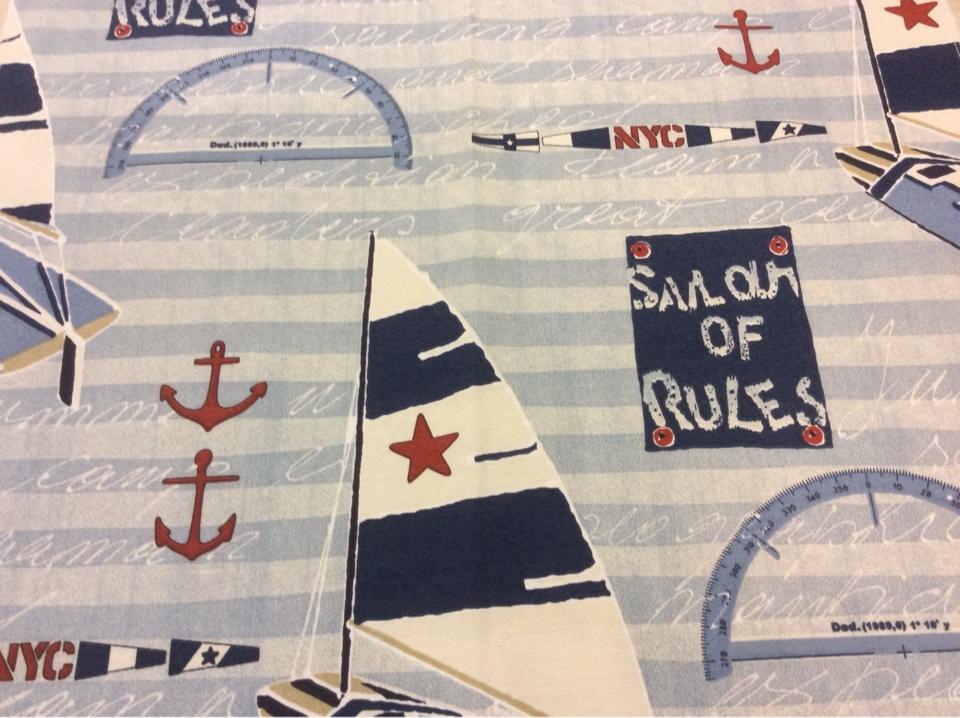 Тефлоновая ткань с хлопковой нитью морской тематики Nautilus, col 65. Европа, Испания, портьерная. Морская тематика для штор купить в каталоге ткани
