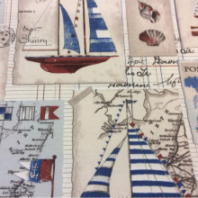 Тефлоновая ткань с хлопковой нитью Balear, col 01. Европа, Испания, портьерная. Морская тематика