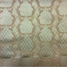 Итальянский атлас в стиле барокко Gretta 050. Италия, Европа, портьерная ткань для штор. Оливковый фон, бронзовый орнамент