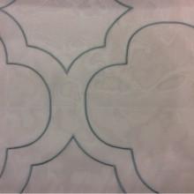 Шикарный итальянский тюль в стиле модерн Alicante 07. Италия, Европа, тюль.  На прозрачном фоне вышивка цвета бирюзы