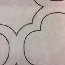 Органза с вышивкой Alicante 47. Италия, Европа, тюль. На прозрачном фоне орнамент титанового оттенка
