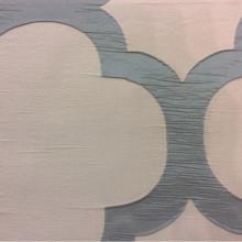 Жатая ткань с крупным орнаментом Alicante 08. Италия, Европа, портьерная ткань для штор. Серо-бирюзовый фон