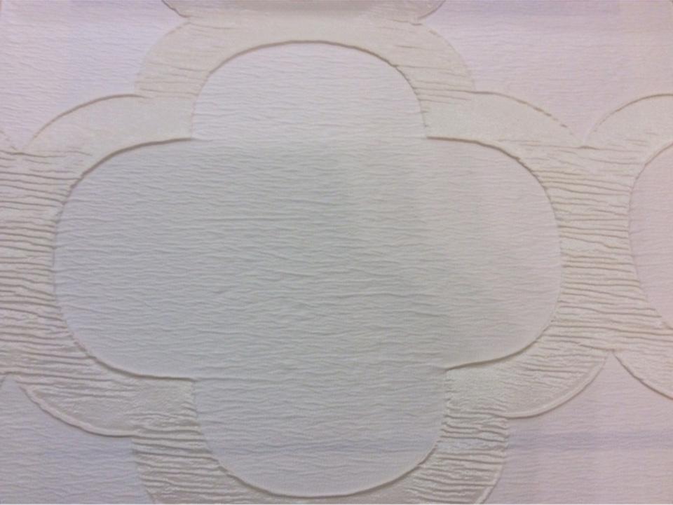 Жатая ткань с крупным орнаментом Alicante 16. Европа, Италия, портьерная. Молочно-кремовый фон купить