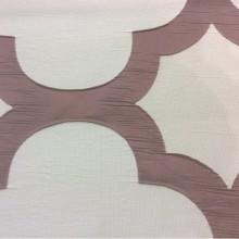 Итальянская жатая ткань с крупным орнаментом Alicante 40. Европа, Италия, портьерная. Серовато-брусничный фон