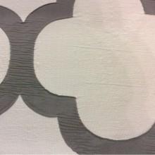 Жатая ткань с крупным орнаментом Alicante 56. Европа, Испания, портьерная. Светло-серый фон, тёмно-серый орнамент