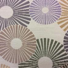 Ткань с необычным абстрактным рисунком Paloma 04. Испания, Европа, портьерная ткань. Абстрактные круги, микс