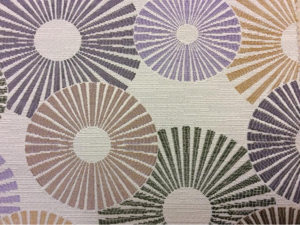 Ткань с необычным абстрактным рисунком Paloma 04. Испания, Европа, портьерная ткань. Абстрактные круги, микс купить, заказать в Москве