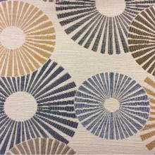 Необычная портьерная ткань для штор в стиле модерн с абстракцией Paloma 18. Европа, Испания, портьерная. Абстрактные круги, цвет ткани — микс