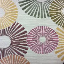 Ткань для штор с необычным рисунком Paloma 25. Испания, Европа, портьерная. Абстрактные круги, микс