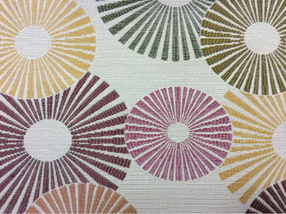 Ткань для штор с необычным рисунком Paloma 25. Испания, Европа, портьерная. Абстрактные круги, микс купить, заказать в Москве