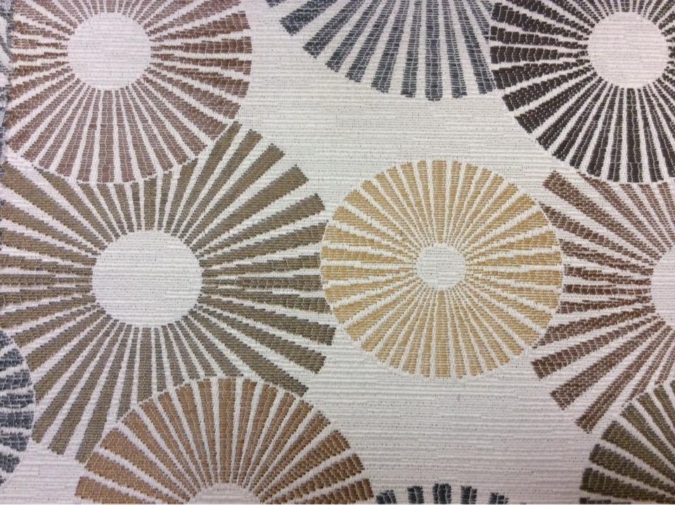 Ткань в стиле модерн с абстракцией круги Paloma 32. Испания, Европа, портьерная. Абстрактные круги, микс купить в интернет-магазине