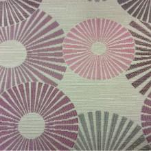 Ткань с абстрактным рисунком круги Paloma 39. Европа, Испания, портьерная ткань. Абстрактные круги, микс