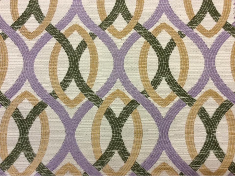 Купить ткань в стиле модерн Paloma 02. Испания, Европа, портьерная ткань для штор. Абстрактные линии сиреневого, бежевого, зелёного оттенков купить