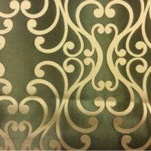 Купить хлопковую ткань в Москве Elizabeth col. 22. Испания, Европа, портьерная. Зелёный фон, кремовый принт