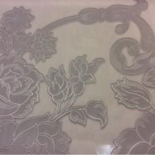 Тюль из органзы в стиле ампир с принтом серебристого оттенка Fausta 24. Европа, Италия, тюль.
