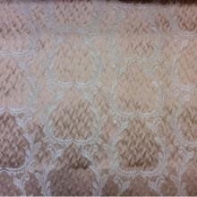 Рифлёный атлас, вискоза в стиле барокко Gretta 040. Европа, Италия, портьерная. Персиковый фон, золотистый орнамент