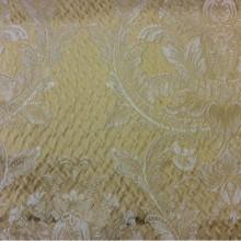 Ткань из Италии в стиле барокко Gloria 030. Европа, Италия, портьерная. Горчичный фон, золотистый орнамент «дамаск»