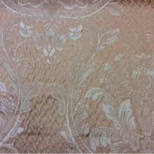 Элитная ткань производство Италии Gloria 040. Италия, Европа, портьерная. Персиковый фон, золотистый орнамент «дамаск»
