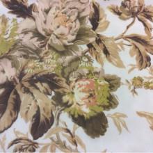 Тюль из шифона с ярким цветочным принтом 2403/21. Италия, Европа, тюль.