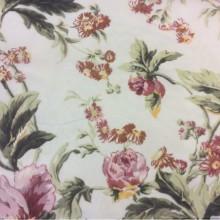 Ткань из шифона с ярким цветочным принтом в стиле кантри, прованс. Европа, Италия, тюль