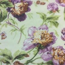 Ткань из шифона с ярким цветочным принтом, фон кремовый. Италия, Европа, тюль