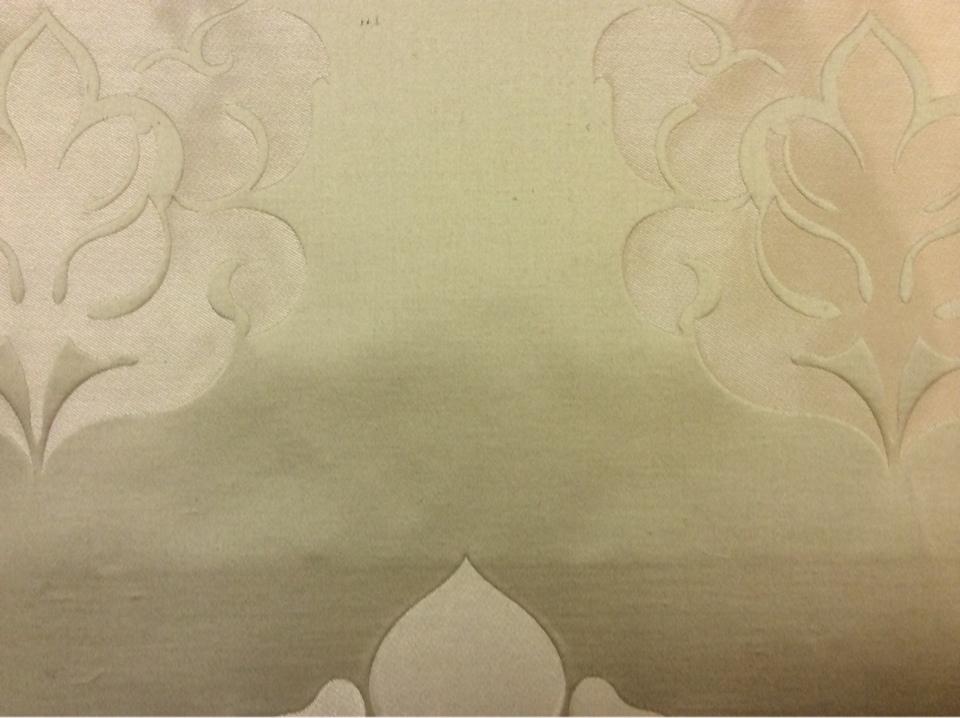 Льняная ткань для штор в стиле арт-деко 2358/25, итальянский каталог ткани. Европа, Италия, портьерная. Бежевый фон, золотистый орнамент купить в Москве